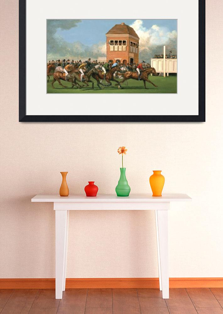 """Early Thoroughbred Horse Race&quot  (2011) by jacksby"