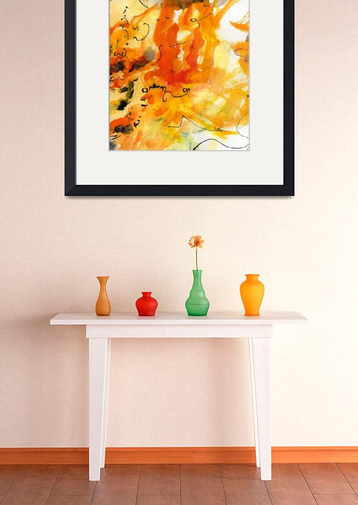 """Abstract All Consuming Fire #2 Orange Yellow&quot  (2011) by GinetteCallaway"