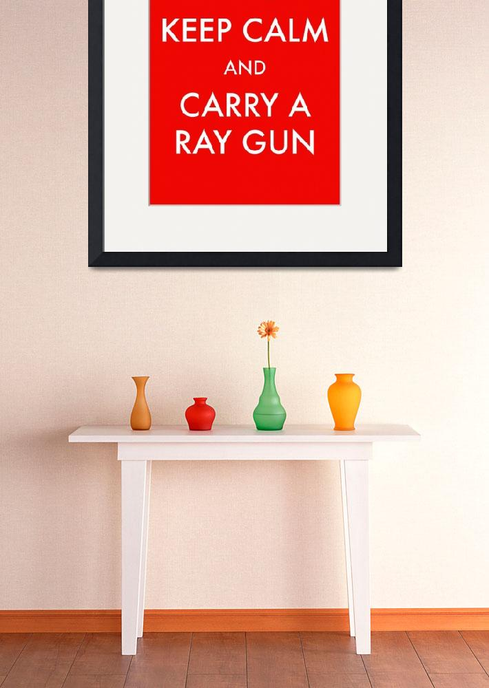 """rayguns red clean&quot  by TravisPitts"