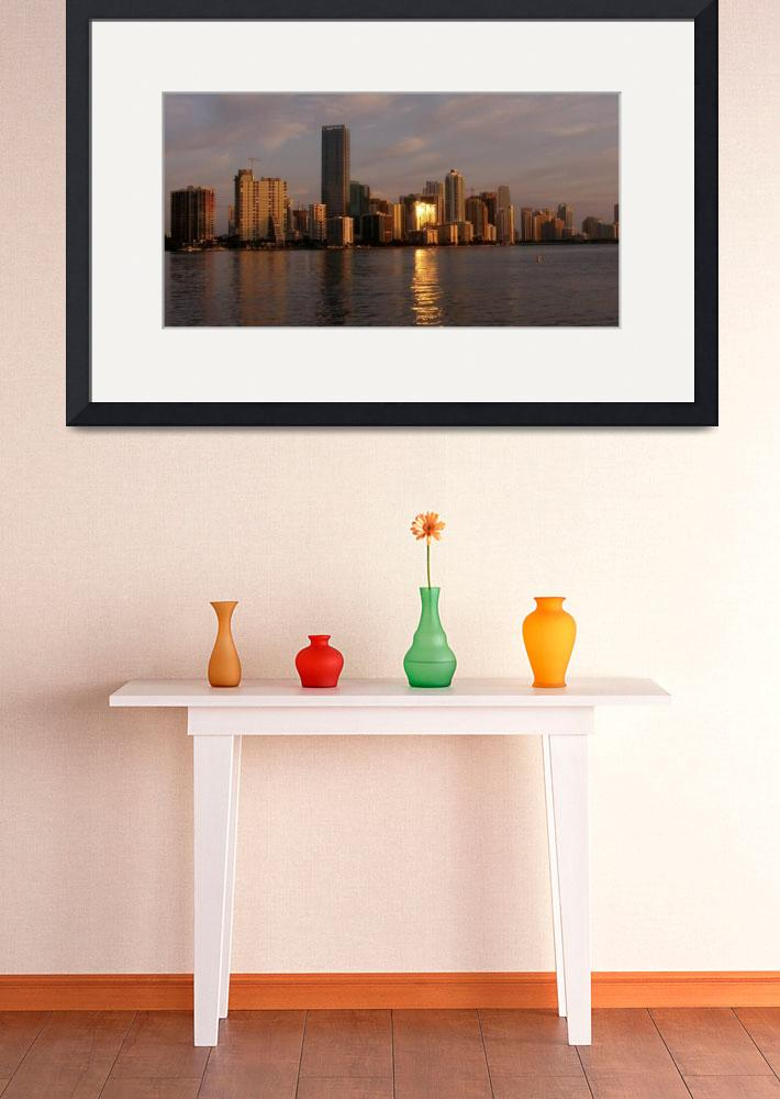 """Sunrise, Miami&quot  (2008) by mozartme"