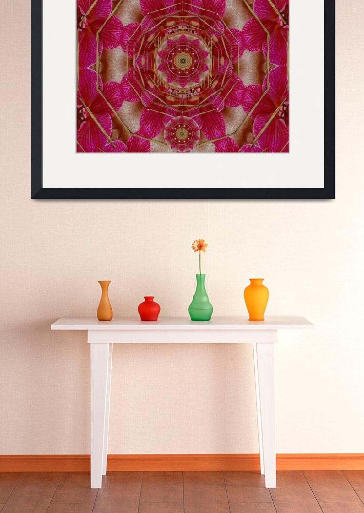 """The Sacred Orchid Hippie Mandala&quot  (2013) by PepitaSelles"