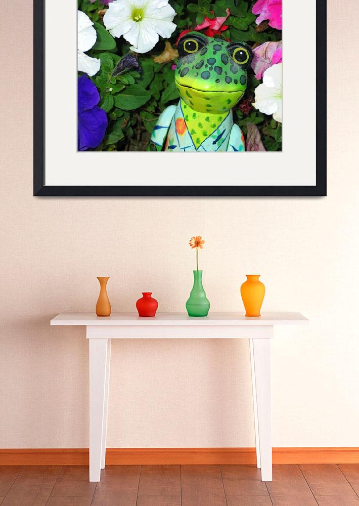 """Frog and Flowers&quot  (2006) by eye4nature"