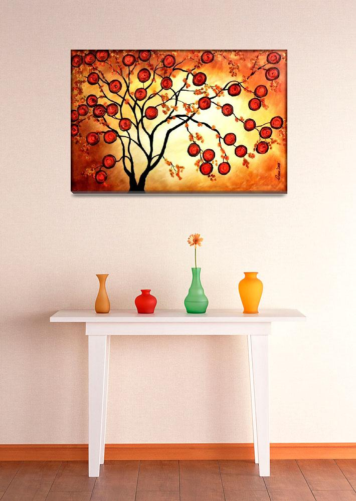 """ORANGE TREE&quot  (2008) by peggygarr"