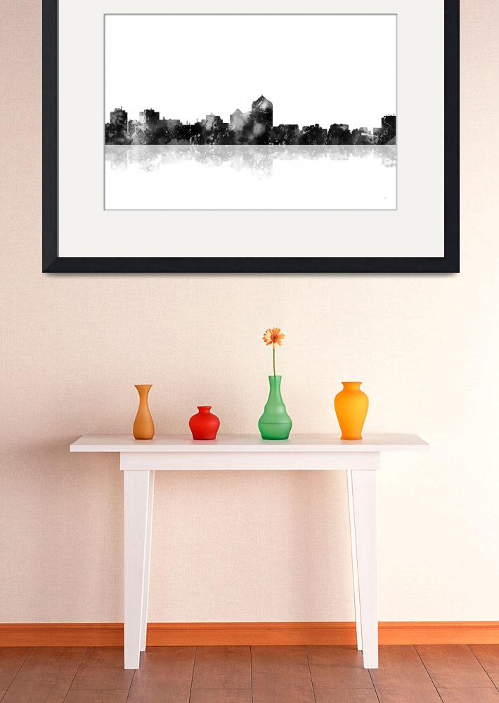 """Albuquerque  New Mexico Skyline&quot  (2015) by MarleneWatson"