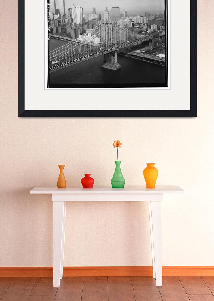 """Manhattan Bridge Black and White Photograph&quot  by Alleycatshirts"