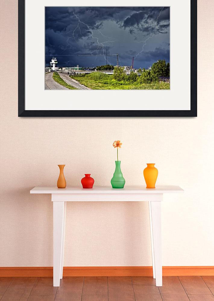 """Storm near New Orleans&quot  by anthonymdavis"