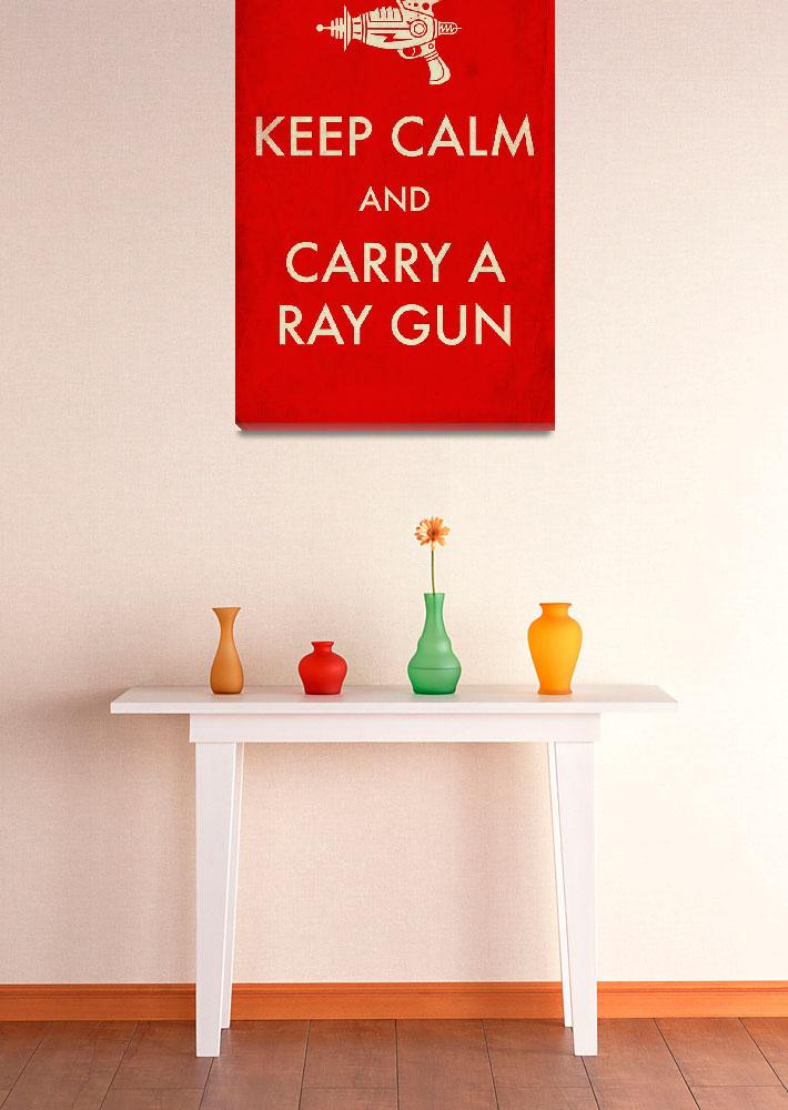 """rayguns red aged&quot  by TravisPitts"