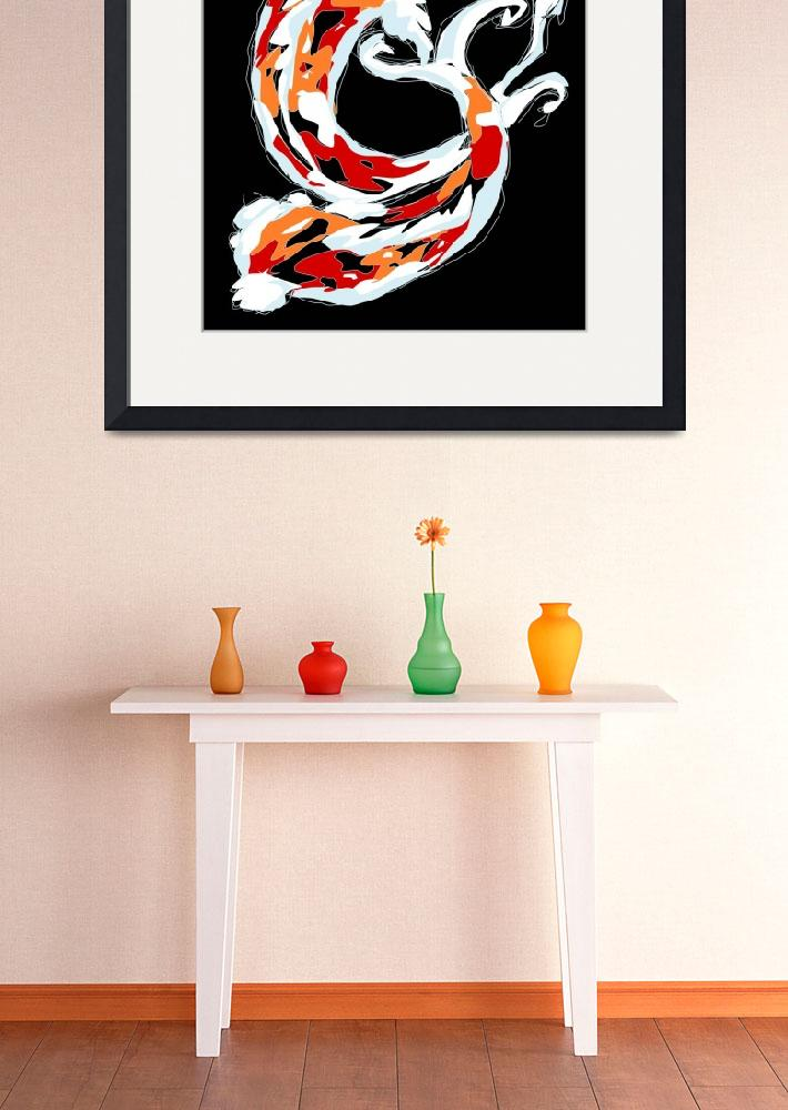 """2 Colorful Koi&quot  (2008) by kristensteinfineart"