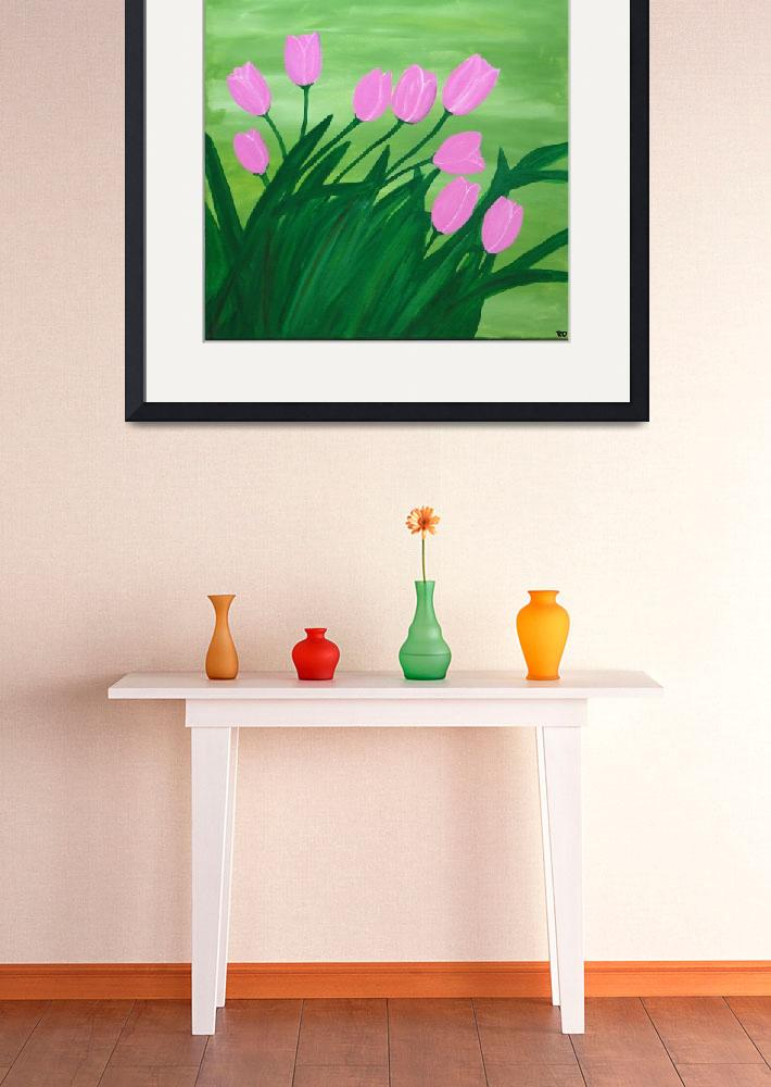 """Spring tulips&quot  (2014) by Rachelolynukart"