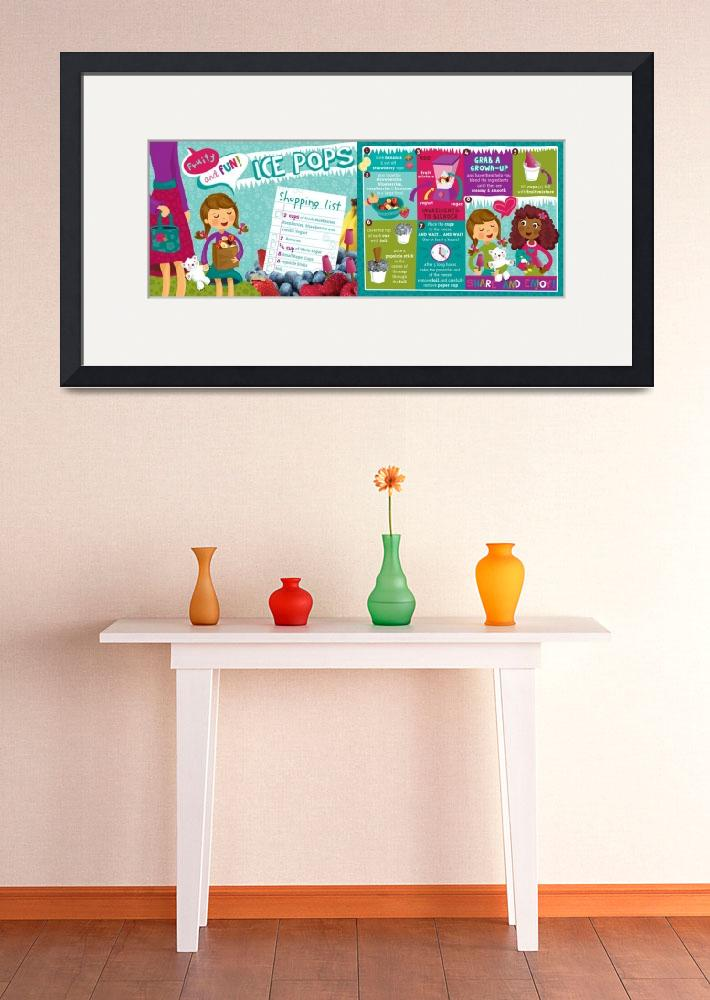 """Fruity Ice Pops by Laura Mayes&quot  by TheyDrawandCook"