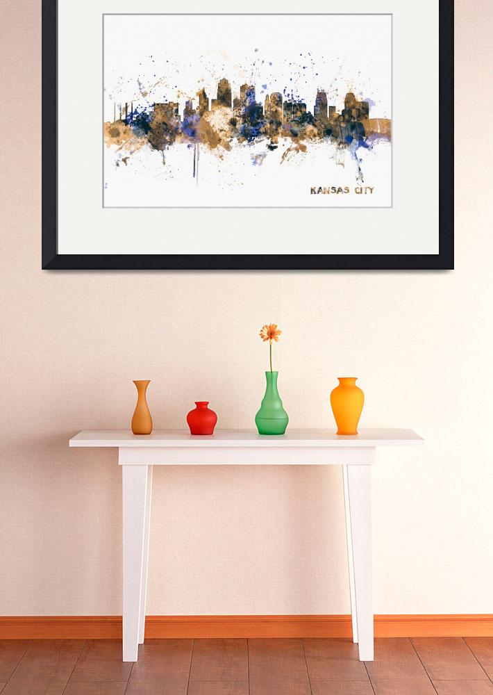 """Kansas City Skyline&quot  (2014) by ModernArtPrints"