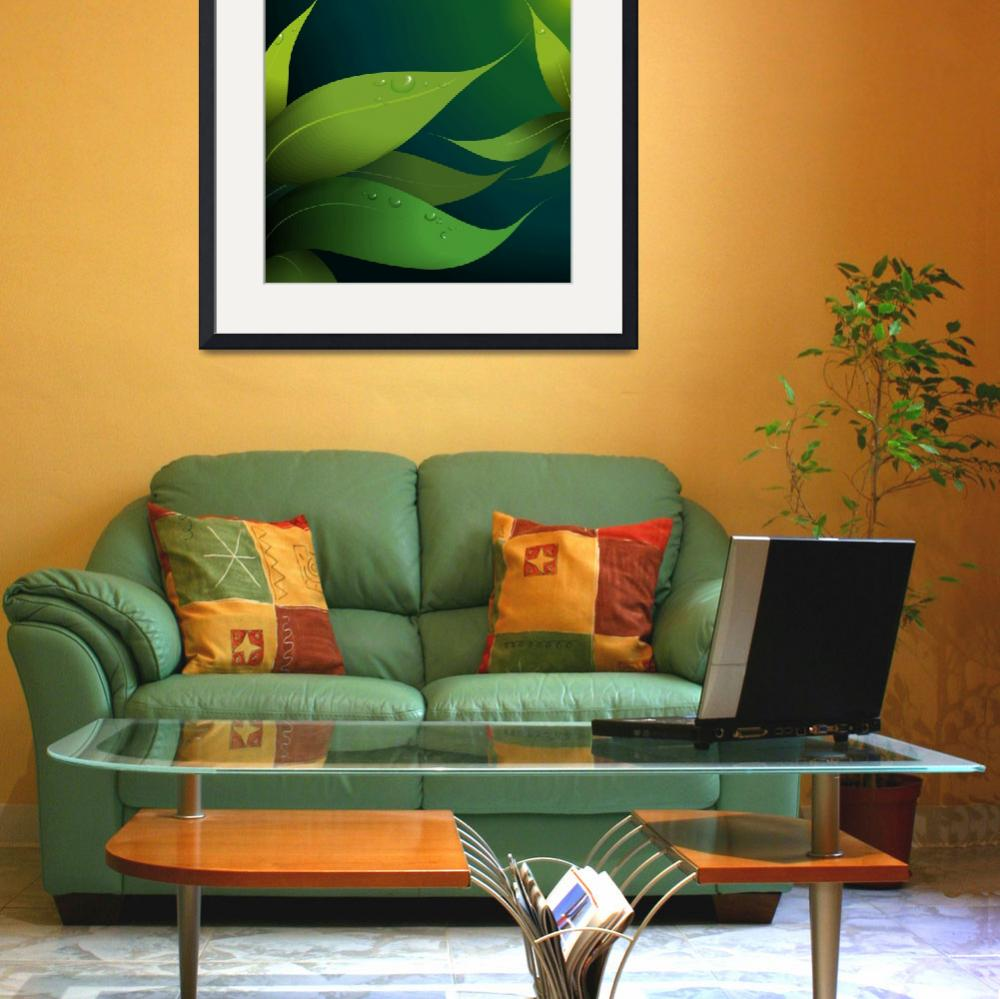 """Greenly leaves&quot  (2010) by digitalpainting"