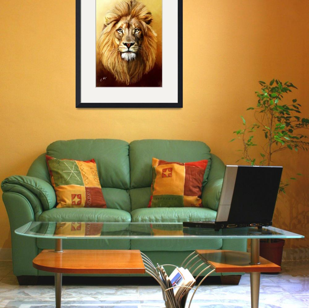"""Lion&quot  (2011) by ellenspaintings"