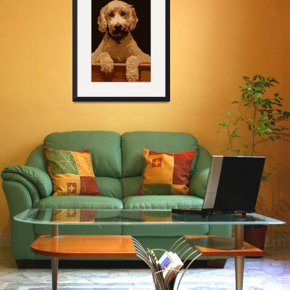 """Cartoon Goldendoodle&quot  by themuppet"