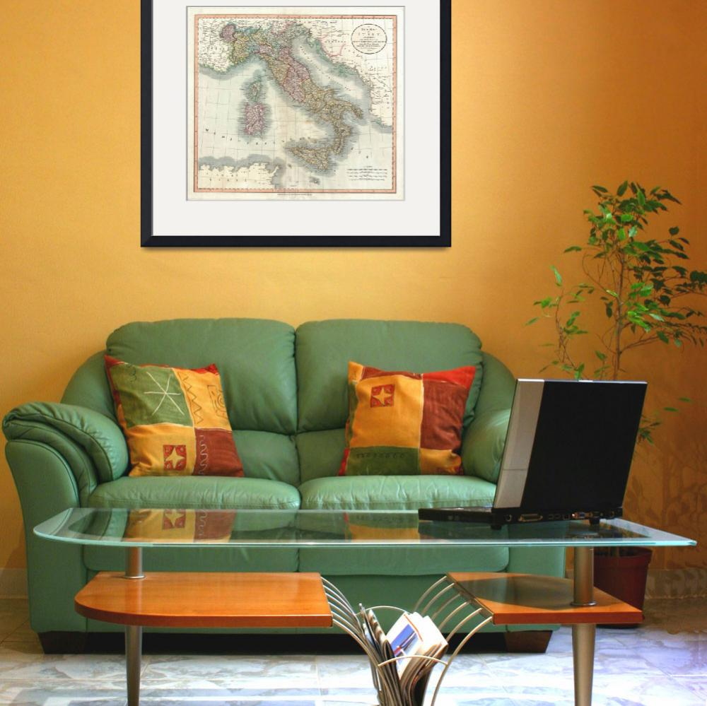"""Vintage Map of Italy (1799)&quot  by Alleycatshirts"