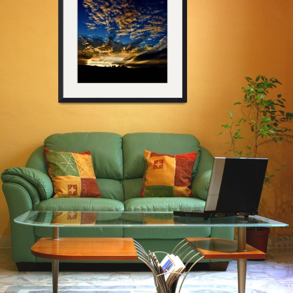"""Blue Sky Sunset&quot  (2009) by bavosiphotoart"