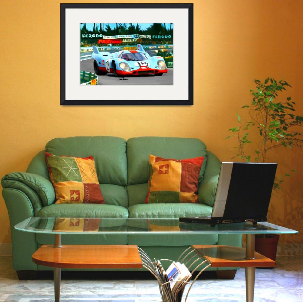 """Porsche 917, wide view at Le Mans&quot  (2006) by ArtbySachse"