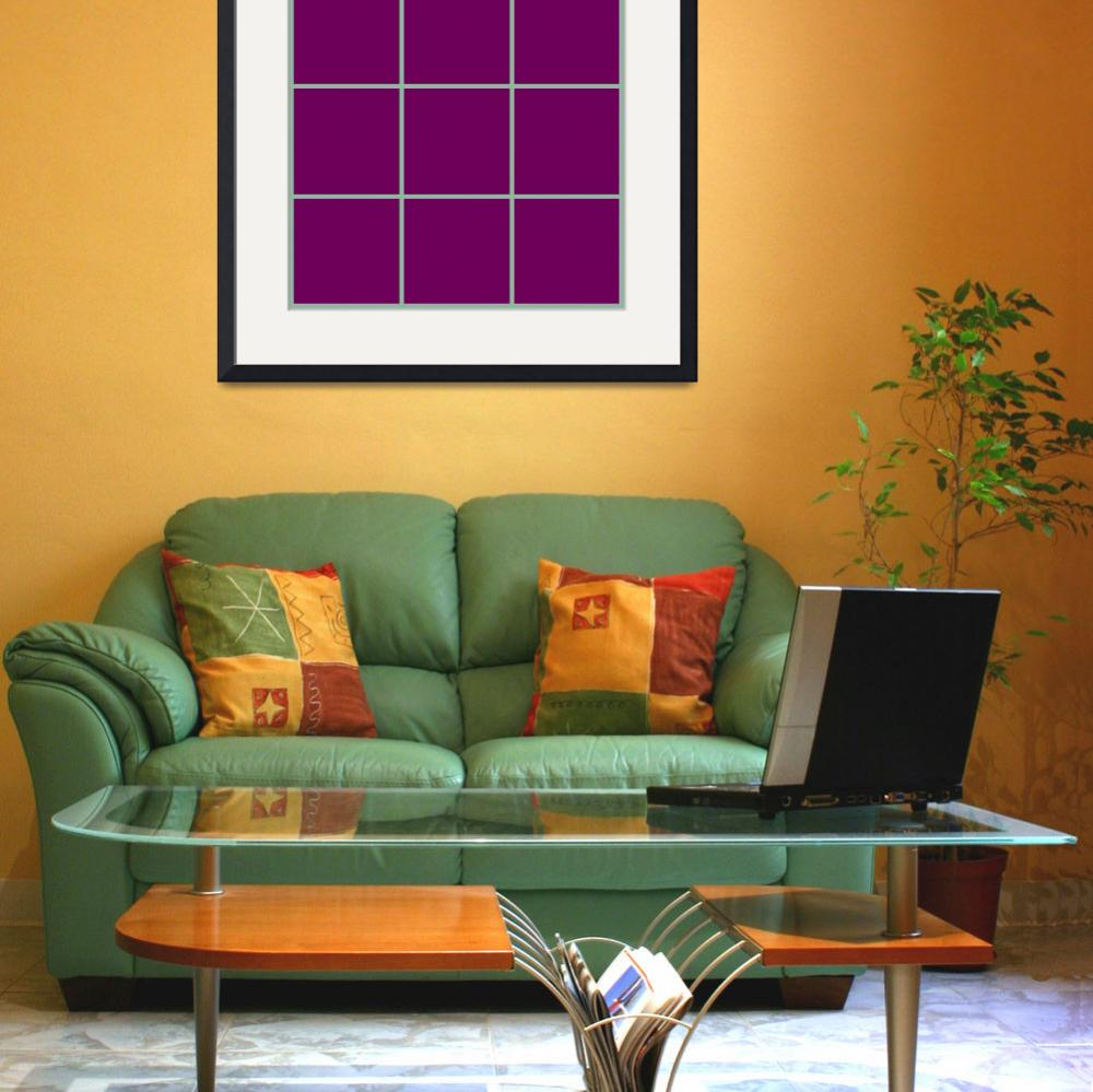 """Violet Window 189 Canvas Contemporary Modern&quot  (2010) by Ricardos"