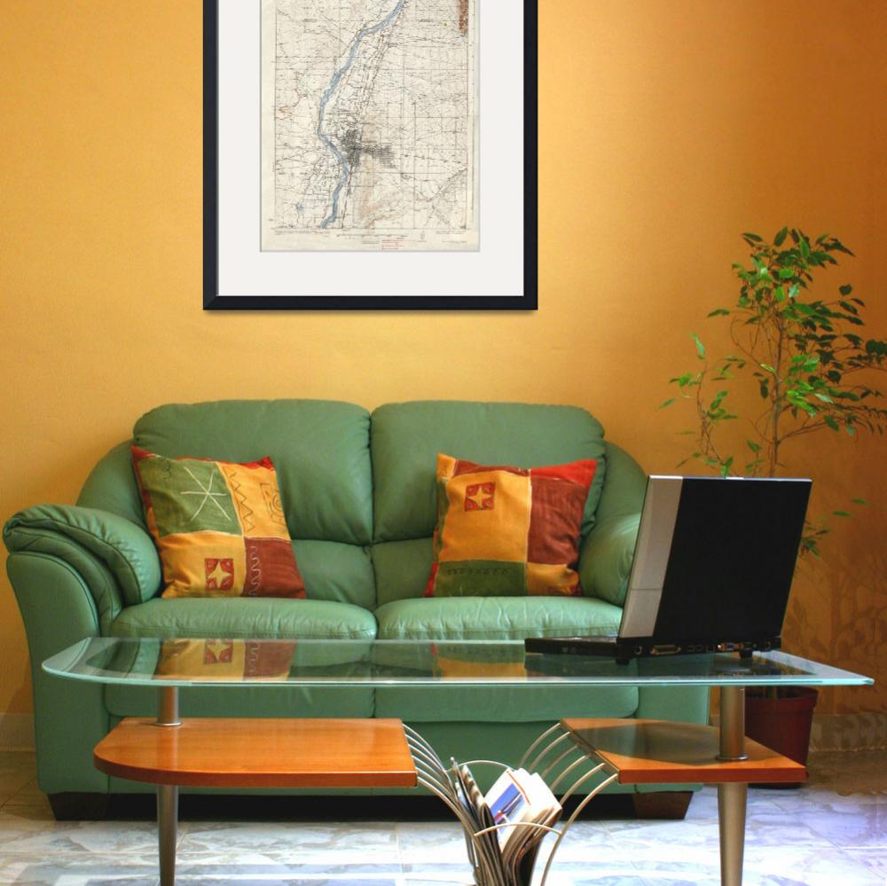 """Vintage Albuquerque New Mexico Topographic Map&quot  by Alleycatshirts"
