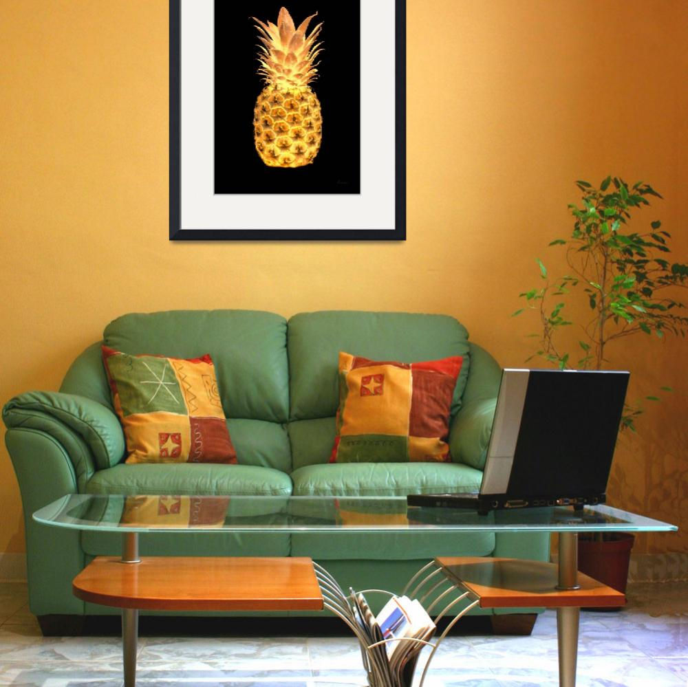 """14g Abstract Expressive Pineapple Digital Art&quot  (2016) by Ricardos"
