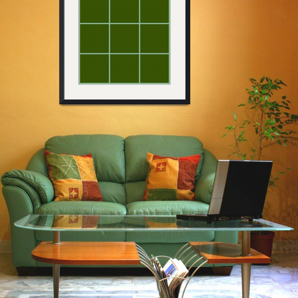 """Green Window 078 Canvas Contemporary Modern&quot  (2010) by Ricardos"