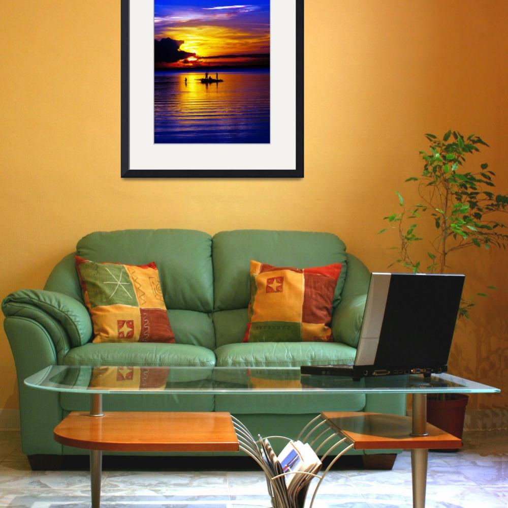 """Fishermen Sunset Verticle Print&quot  (2007) by lightningman"