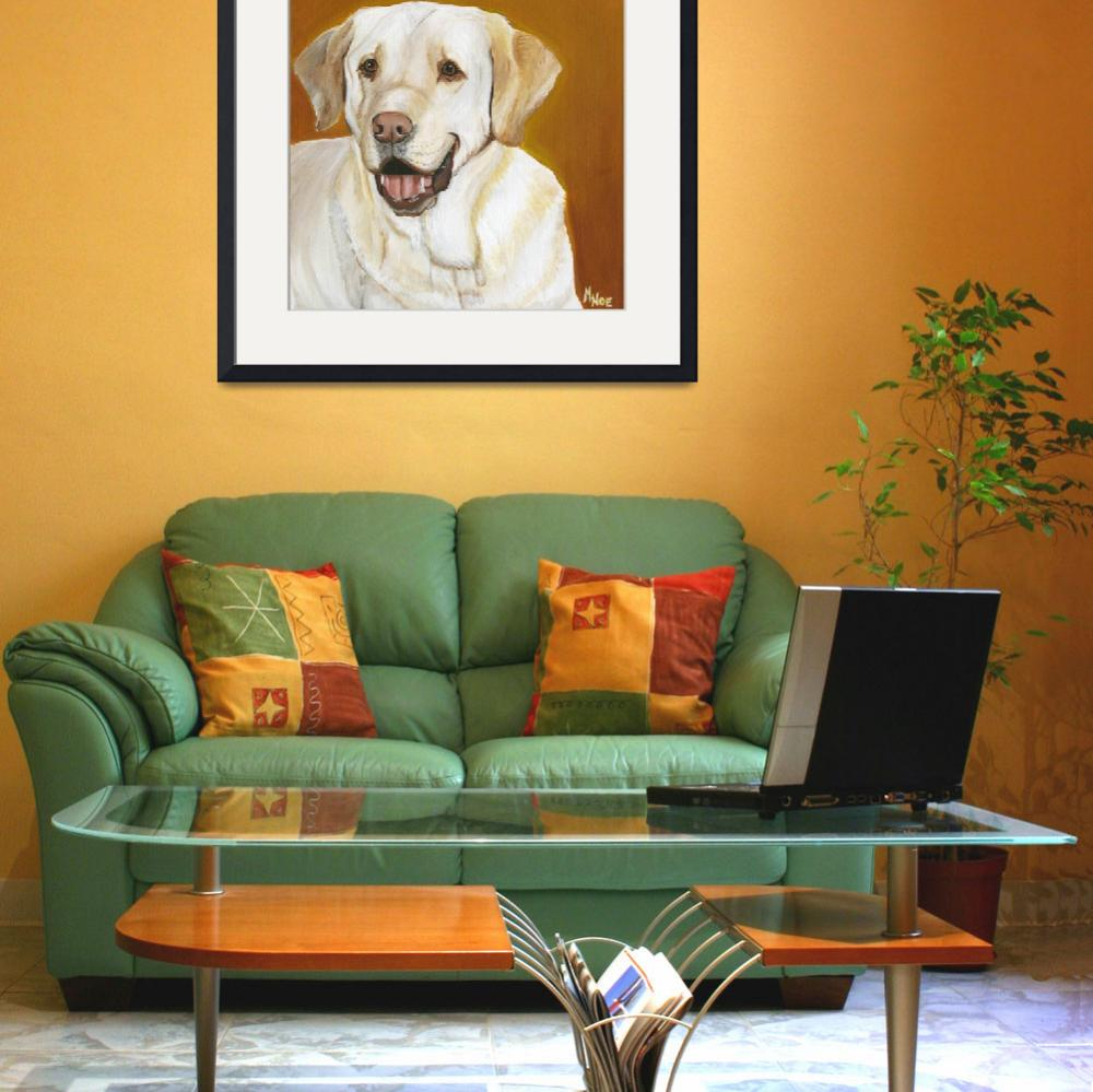 """Yellow Lab&quot  by MichelleNoe"