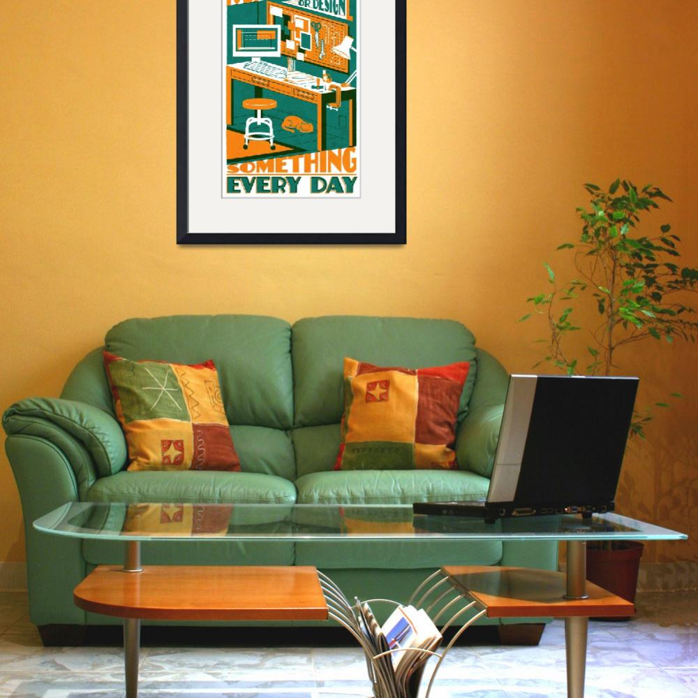"""MAKE orange/teal&quot  (2011) by TravisPitts"