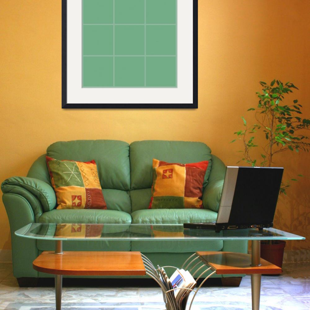 """Green Window 008 Canvas Contemporary Modern&quot  (2010) by Ricardos"