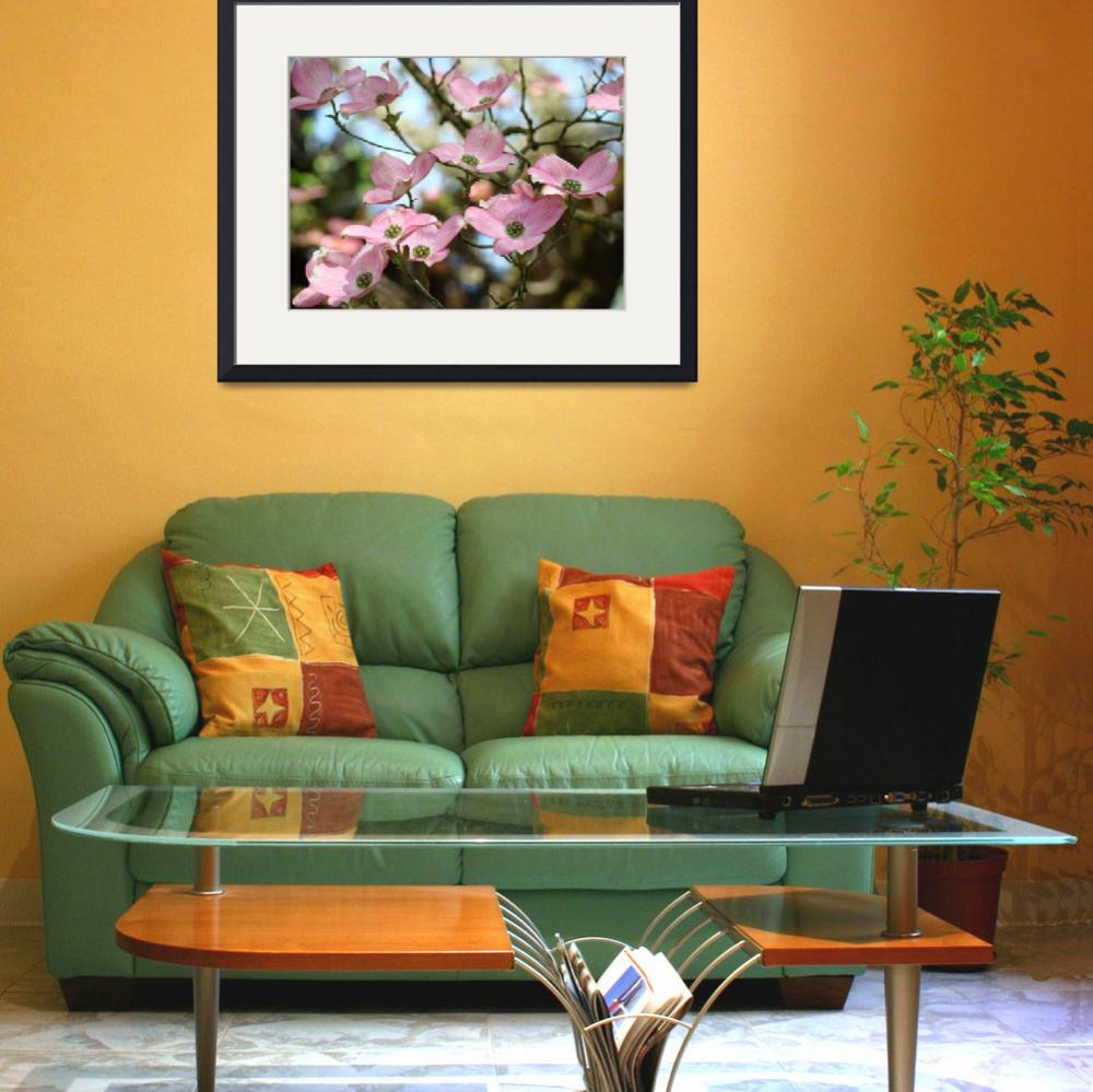 """OFFICE ART Dogwood Tree Pink Dogwood Flowers&quot  (2009) by BasleeTroutman"