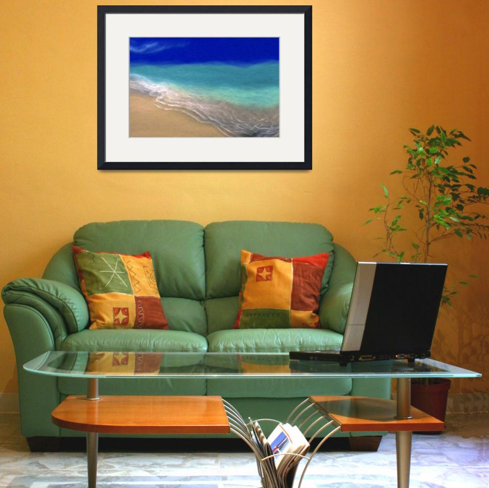 """Beach Scene 7. Abstract Ocean Art&quot  (2013) by MarkLawrence"