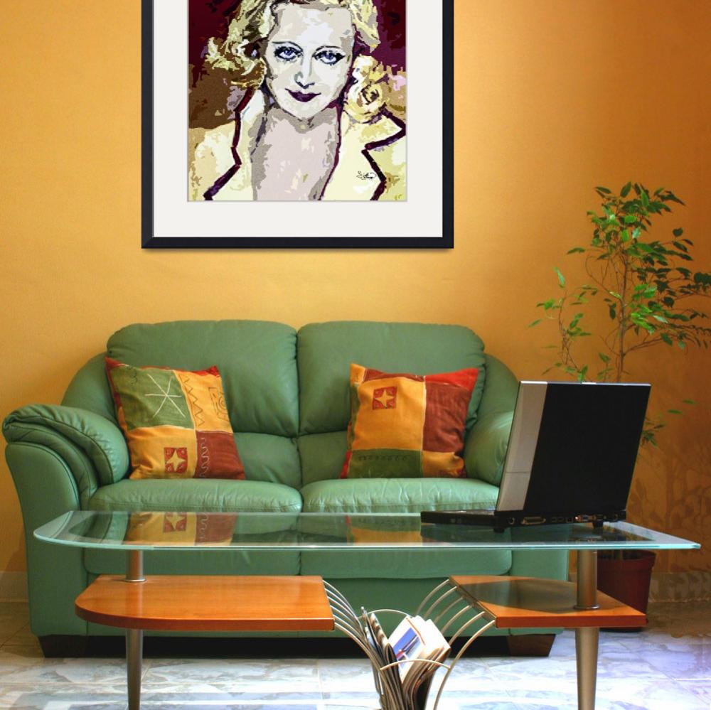 """Abstract Carol Lombard&quot  (2013) by GinetteCallaway"