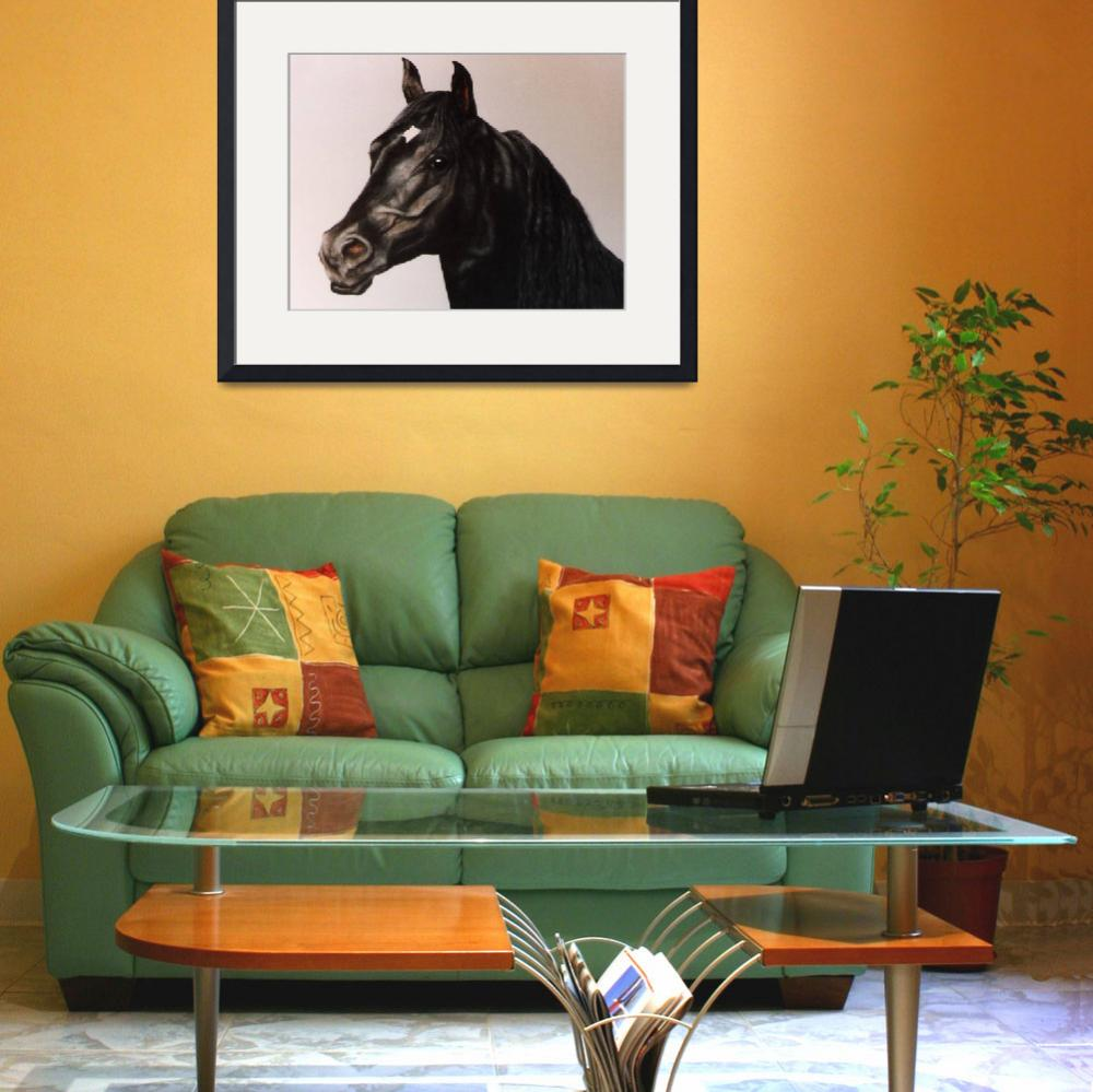 """Black Stallion  painting&quot  by AnimalsbyDiDi"