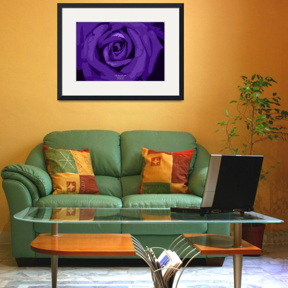 """July Rose Purple&quot  (2012) by SouthIdahoPhoto"