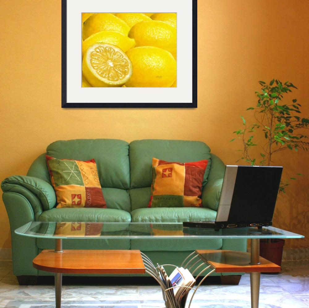 """Celebration in Lemon Yellow&quot  by Tim"