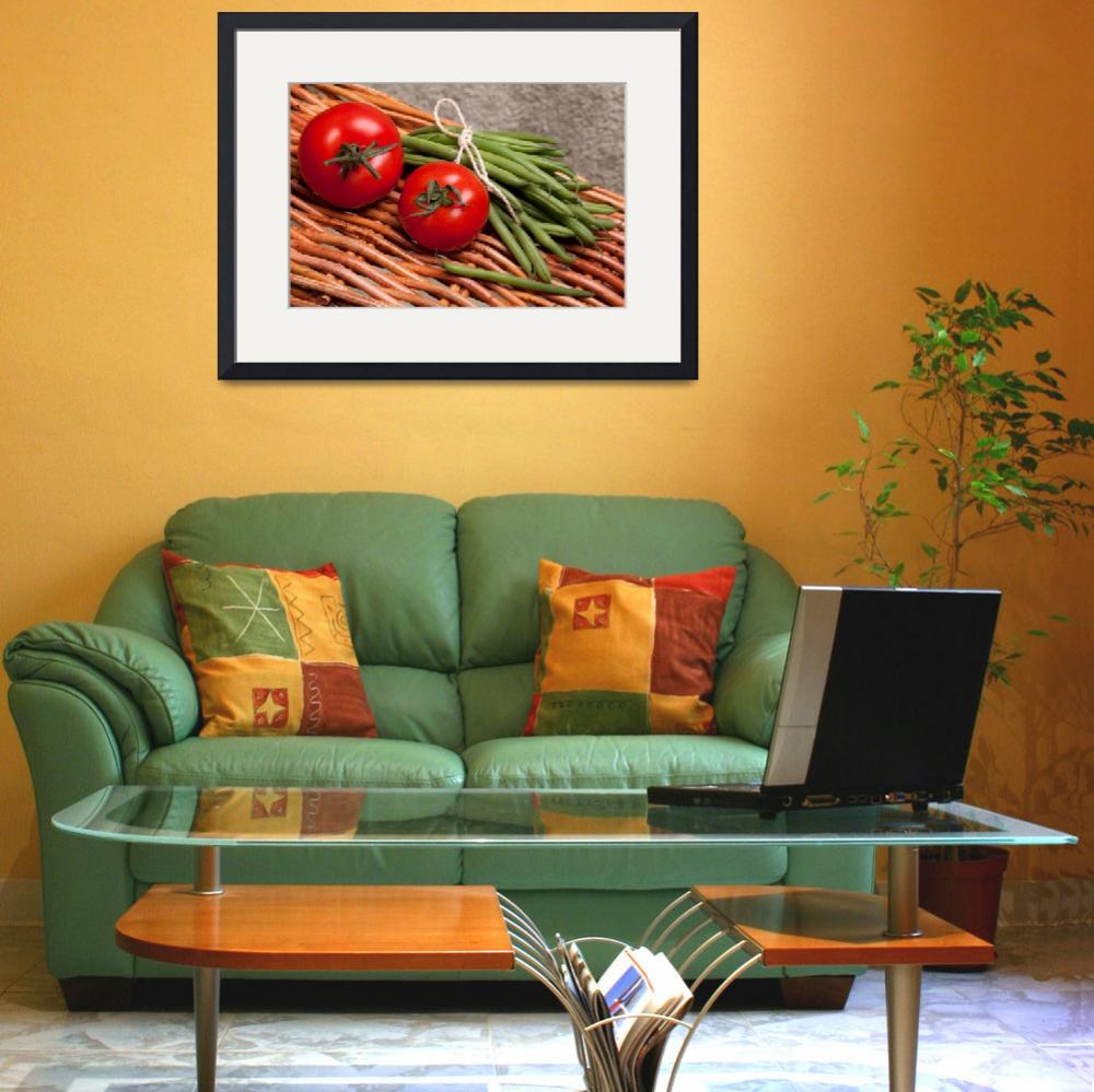 """Tomatoes And Green Beans&quot  (2011) by shopartgallery"
