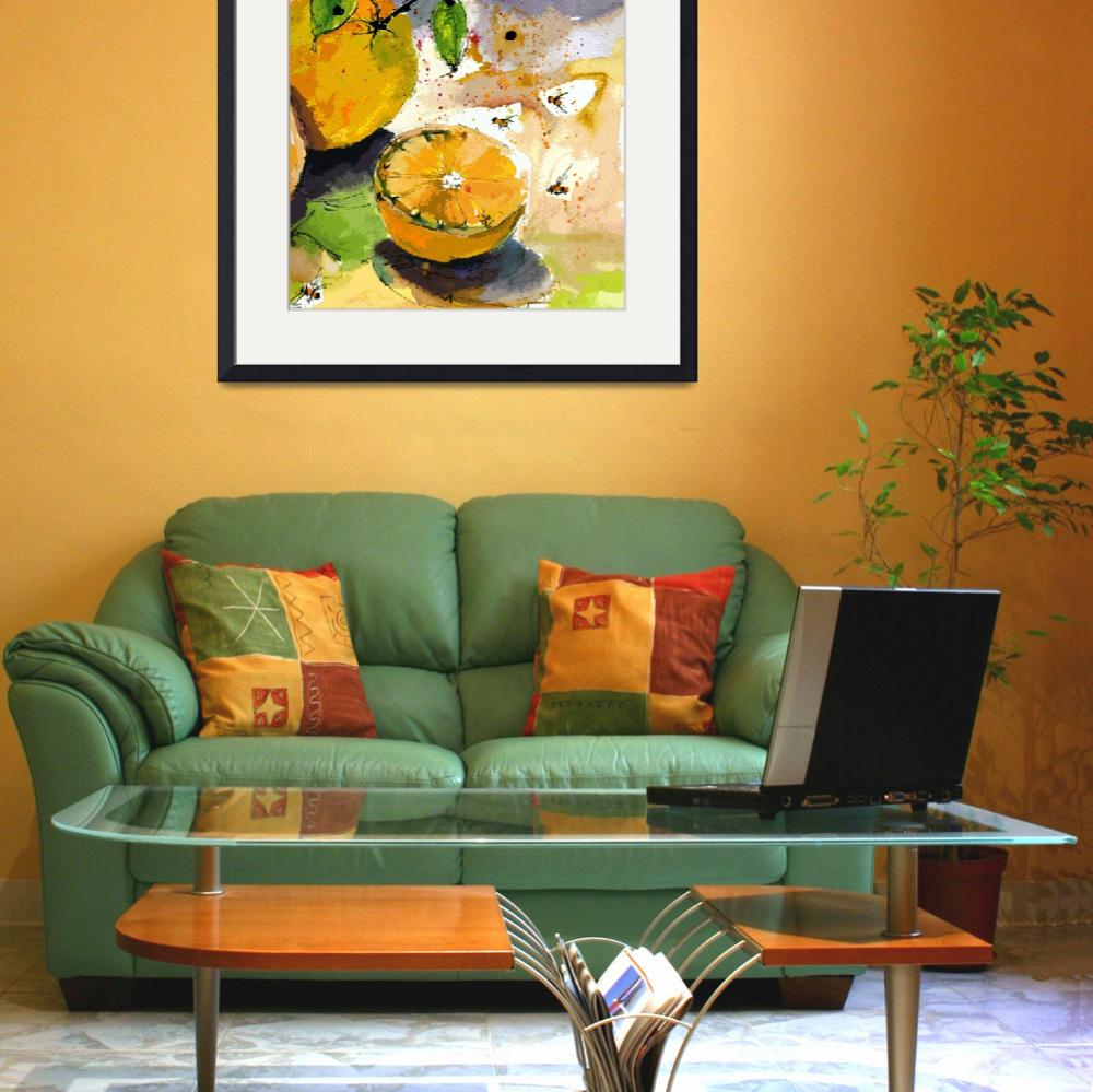 """Oranges and Bees Modern Decor&quot  by GinetteCallaway"