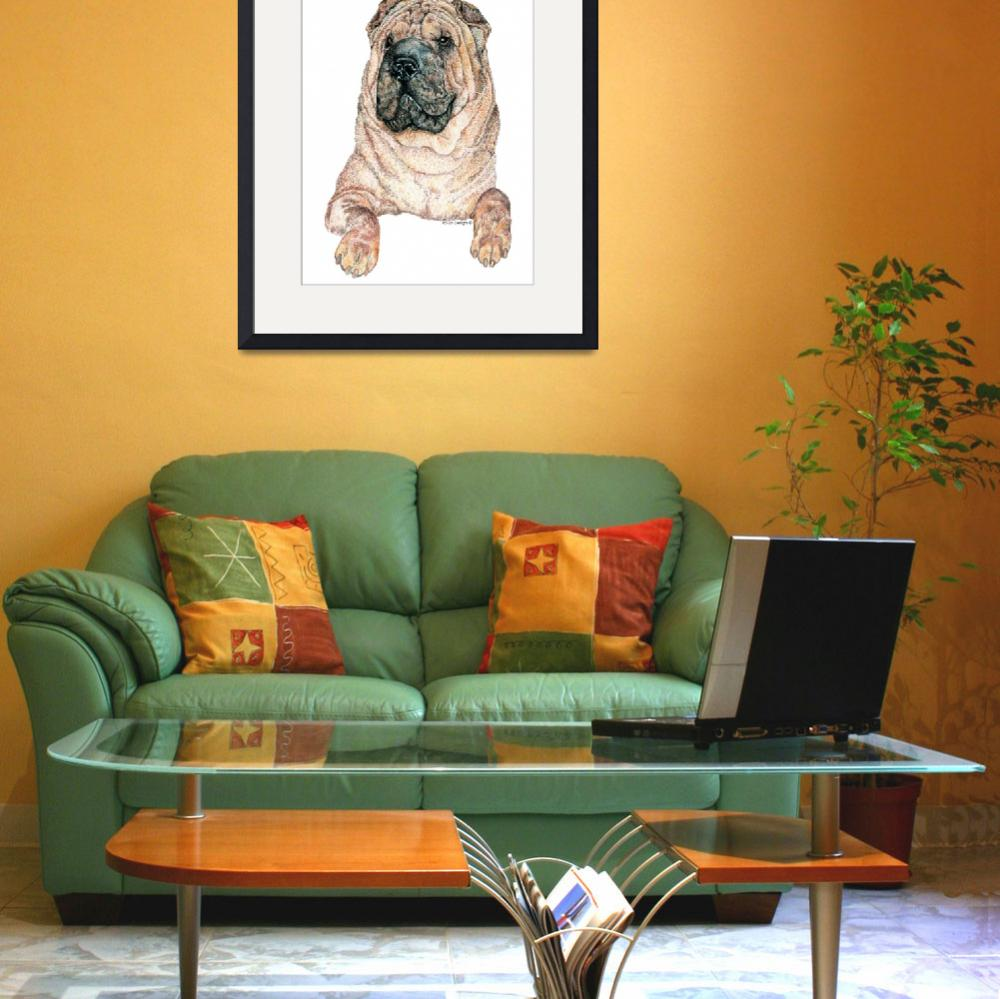 """Chinese Shar-Pei Dog&quot  (2000) by KathleenSepulveda"