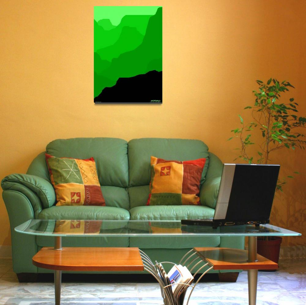 """Grand Canyon - green - Art Gallery Selection&quot  by Lonvig"