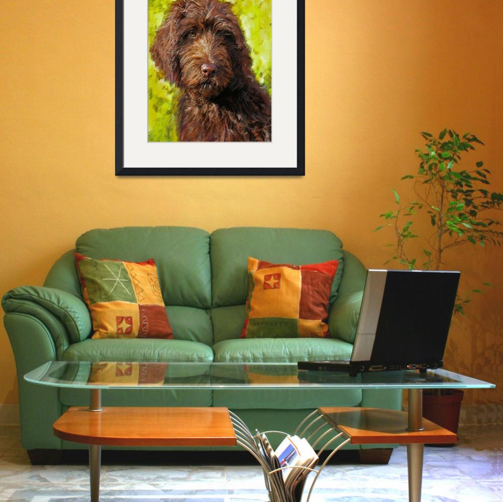 """labradoodle&quot  (2011) by pietrastone"
