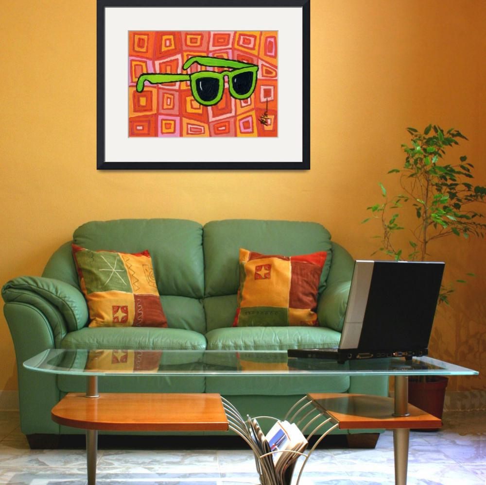 """Green Sunglasses&quot  (2010) by JanetNelson"