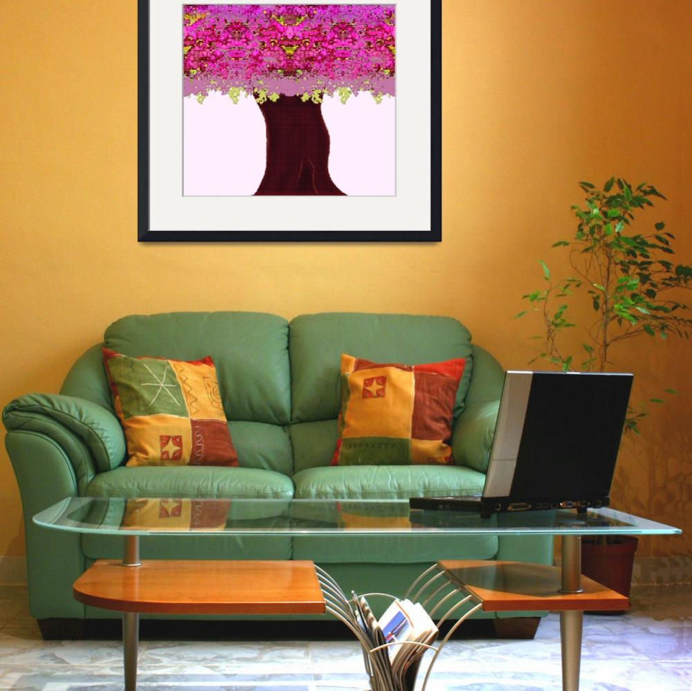 """Pink Tree&quot  (2009) by MaryDolan"