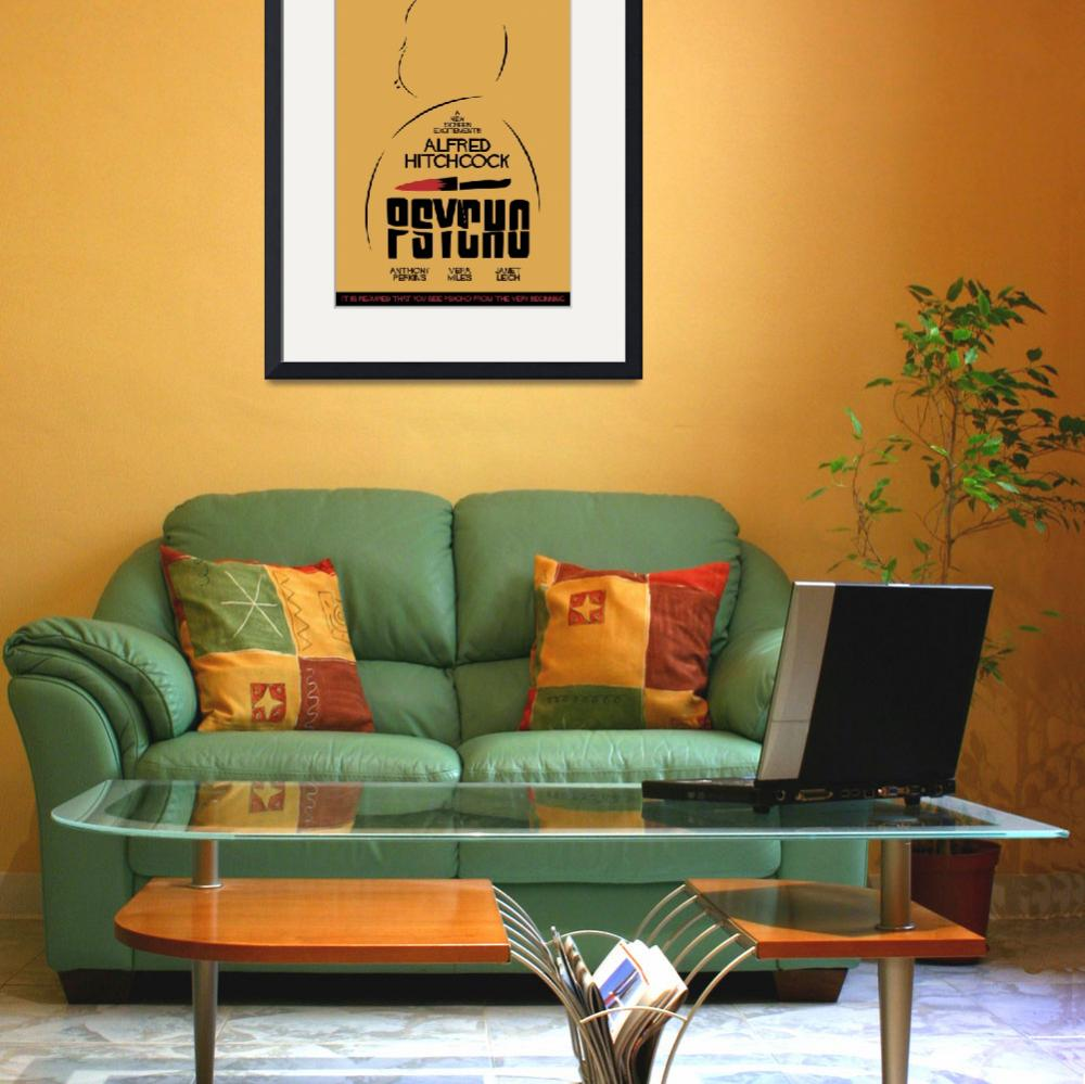 """Psycho, Hitchcock, Movie Poster, classic film, old&quot  (2014) by Illustrationstefano"