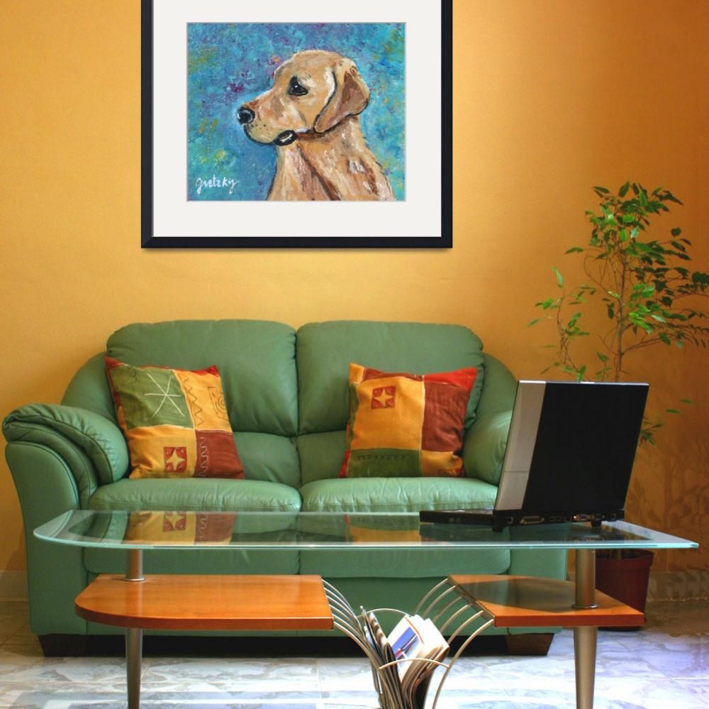 """Yellow Lab&quot  (2011) by paintingsbygretzky"