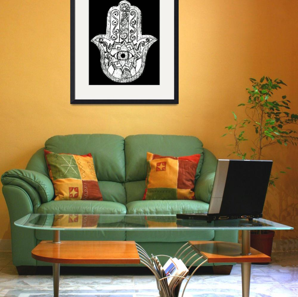 """Monochrome Hamsa&quot  (2014) by Haus_of_Ophidia"