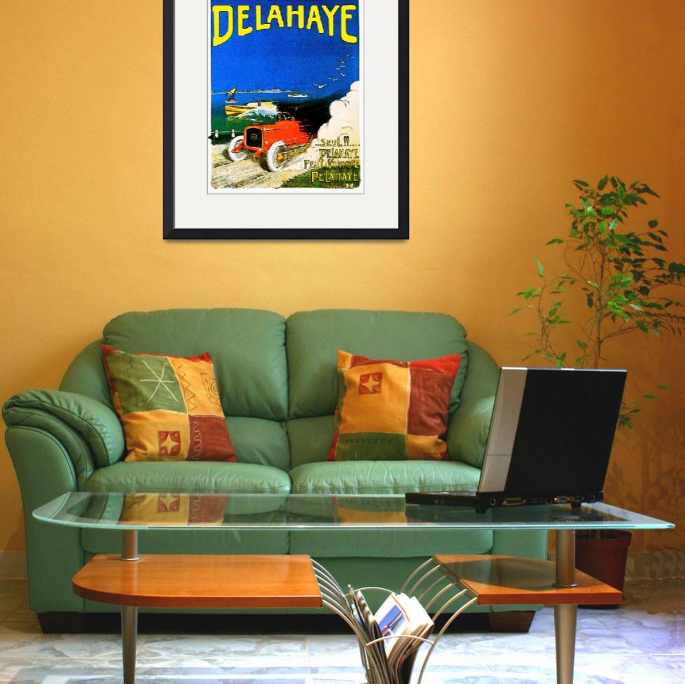 """Delahaye Automobiles ~ Vintage Auto Advertisement&quot  by Johnny-Bismark"