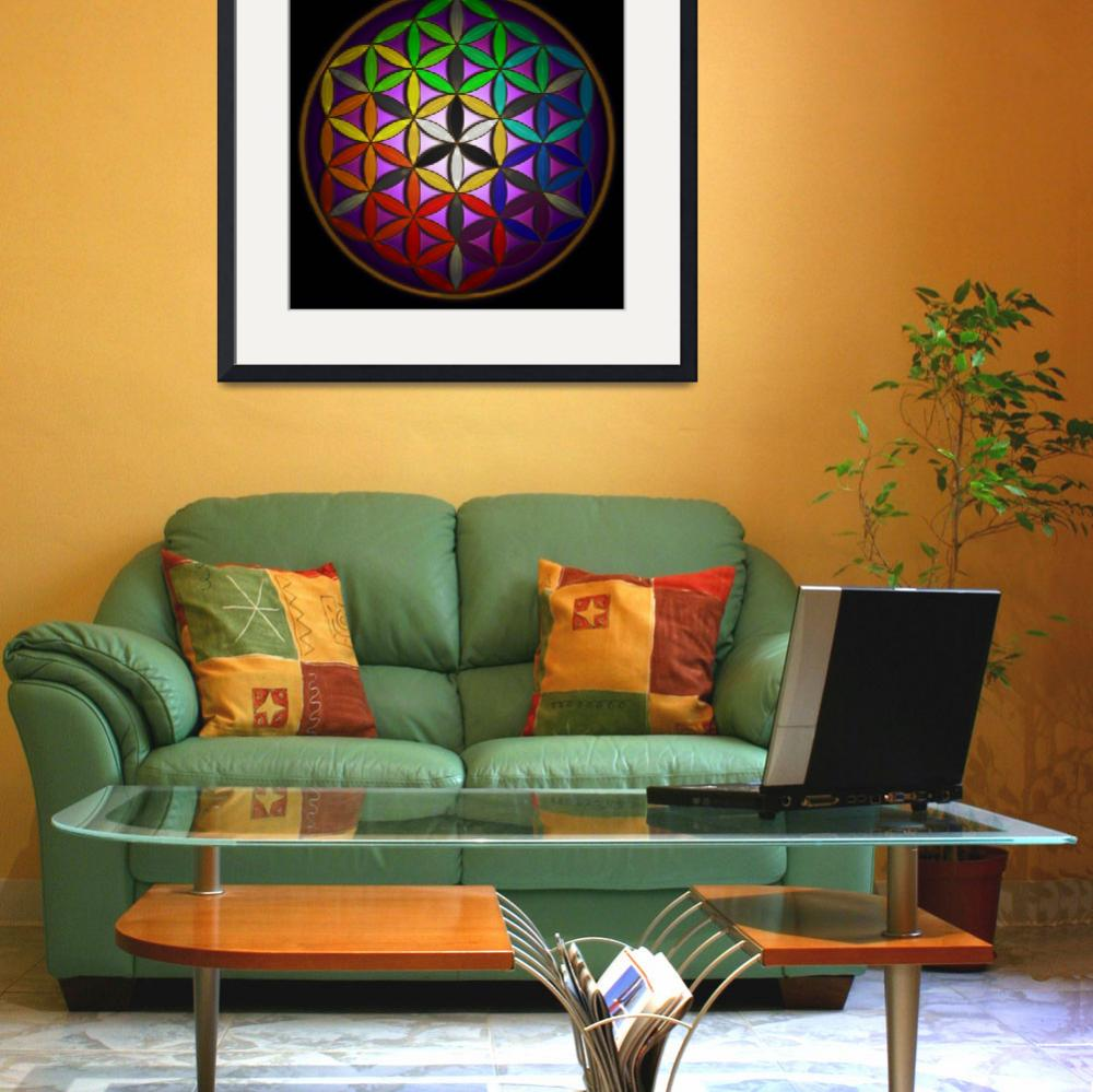 """Full Spectrum Flower of Life&quot  (2008) by infiniteeureka"
