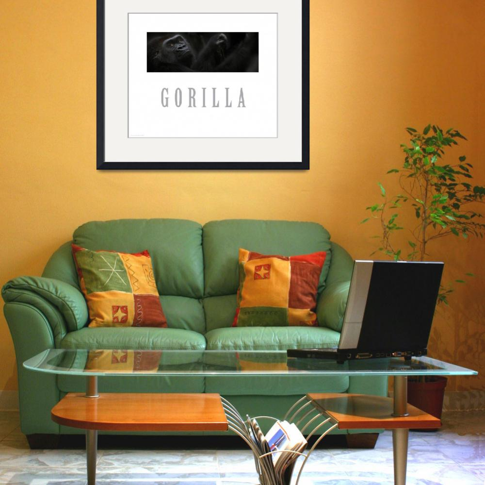 """Gorilla poster&quot  (2005) by Dangerouslyclose"
