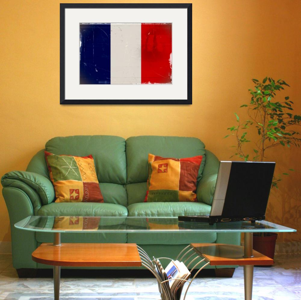 """tobias_Flag_of_France_vintage2&quot  by ArgosDesigns"
