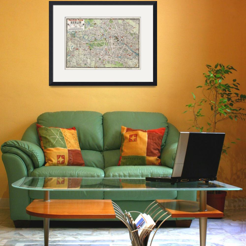 """Vintage Map of Berlin Germany (1905)&quot  by Alleycatshirts"
